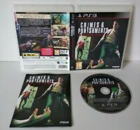 SHERLOCK HOLMES: Crimes & Punishments -Jeu PS3 Region Free Complet Comme neuf
