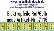 10 Spur 1 Elektropfeile 4,6 x 2,3 mm rot auf gelbem Schild 032-7116