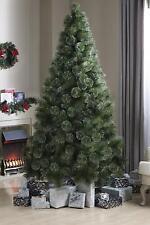 7 ft Bushy Green Glitter Tips Artificial Christmas Tree