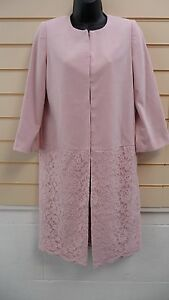 Together Women's Coat Jacket Pink Size 8 Lace Detail Collarless  BNWT (A002