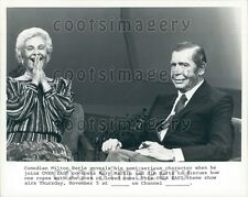 Over Easy TV Mary Martin Laughing With Comedian Milton Berle Press Photo