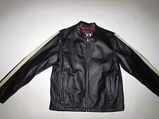 EXSTO Twenty Four Seven Men's 100% Leather Jacket Medium Black Motorcycle M LS