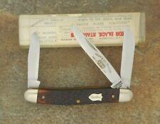 SCHRADE N.Y. U.S.A. 1973-79 RAZOR BLADE STAINLESS JUNIOR STOCK KNIFE 855 W/TUBE