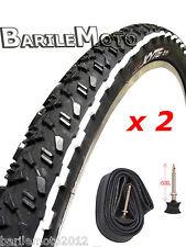 KIT N°2 Copertone / Pneumatico 29 x 2.25 NERO / BIANCO Bici MTB + N°2 CAMERE