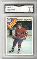 1978-79 Topps #102 Pierre Mondou RC | Graded MINT | Montreal Canadiens