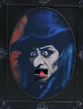 """Gemmy 15"""" x 12"""" Halloween Witch Spooky Animated Talking Picture Frame w/ Motion"""