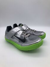 Nike Track And Field Spikes Size 5 Gray Green Zoom HJ High Jump Shoes