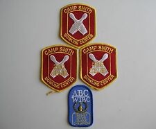 1960s Lot of 4 Bowling Patches USMC 3 Camp Smith & 1 ABC WIBC Military Marine
