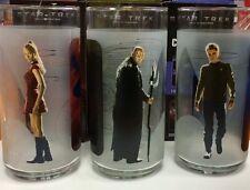 Brand New 3 Star Trek 2008 Paramount Movie Glasses W/ Nero, Kirk , & Uhuru