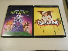 4K Ultra HD/Blu-ray LOT (2) Gremlins/Beetlejuice Michael Keaton Steven Spielberg