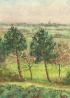 1907 Watercolour - From the Library Window