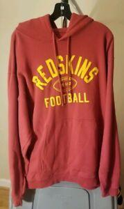 Washington Redskins NFL Reebok Burgundy Redskins Large Hooded Sweatshirt
