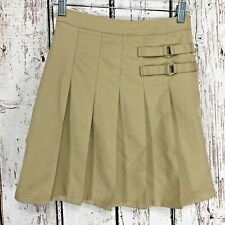 French Toast School Uniform Girls Sz 3 Two Tab Pleated Khaki Scooter Skirt (Ee5)