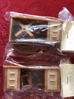 Lot Of 2 Vintage Dollhouse Master Planner Dollhouse Desk And Chair Sets New