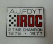 A.J. Foyt Iroc 2 Time Champion 1976 - 1977 Collector Lapel Pin