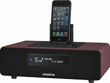 Sangean DDR-38 Digitalradio DAB+ Bluetooth UKW-Radio RDS iPhone-Docking USB rot