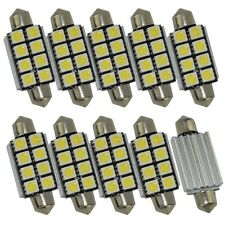 10X Festoon 42mm CANBUS LED Bulb White 8-SMD No error Dome license plate light