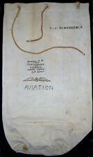 WWI US Navy Airship / Blimp Helmsman's Sea Bag and Working Shirt