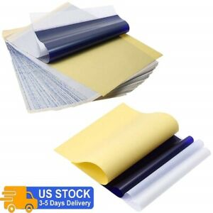 5~50Pcs Tattoo Transfer Paper Stencil Carbon Thermal Tracing Hectograph Sheets