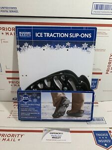 Blizzard Basics Cold Weather Survival Ice Traction Boot Slip-Ons 2 Pack New
