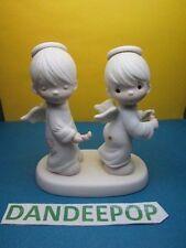 Precious Moments Enesco Holy Smokes Figurine Jonathan & David 1982 E 2351 Dove