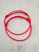2  RED STRING KABBALAH LUCKY BRACELETS GOOD LUCK FORTUNE PROTECTION