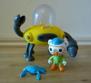 Octonauts Gup D Crab Mode Claw & Drill Bath toy with crab, Captain Barnacles