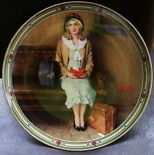 """Knowles Norman Rockwell """"A Young Girl'S Dream"""" Collector Plate Limited Edition"""