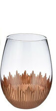 464866 Soiree Wine Stemless Glass 18oz Fall Thanksgiving Home Decor Table