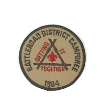 1984 Battleroad District Getting it Together Camporee Minuteman Council Patch