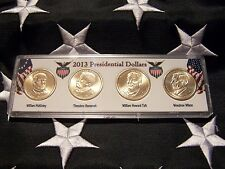 COMPLETE SET OF ALL  FOUR 2013-P PRESIDENTIAL  DOLLARS IN DISPLAY CASE