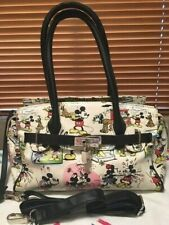 "Vintage Disney Mickey, Minnie ""Romantic Stroll Together"" Purse w Shoulder Strap"