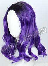 Mal Wig Descendants 3 Purple Dye Wig Short Costume Cosplay Halloween Anime Wig
