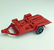 Vintage Tootsietoy Toy Double Motorcycle ATV Die Cast Trailer 1969 Red