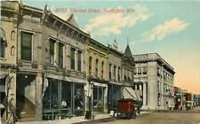 Wisconsin, WI, Burlington, Chestnut Street 1911 Postcard