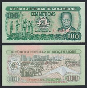 Mozambico 100 meticais 1983 FDS/UNC  A-06