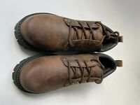 Skechers Hiking Work Boot Shoe Lace-Up Leather SN6618 Brown Men's Size 10.5