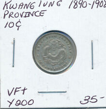 CHINA KWANGTUNG PROVINCE 10 CENTS 1890-1908 Y200 - VF+