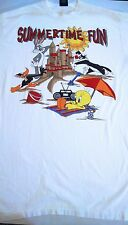 Vintage Looney Tunes Summertime Fun Night T Shirt One Size 1993 Bugz Tweety 90's