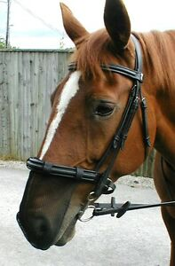Nose Net 4 sizes   SMALL PONY  -   PONY - COB/HORSE - XL BLACK -  NEW.