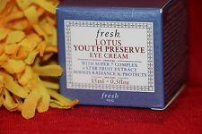 FRESH LOTUS YOUTH PRESERVE EYE CREAM SUPER 7 FULL SIZE .5 OUNCES AUTHENTIC BOX