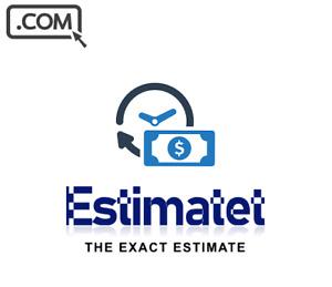 Estimatet .com Premium Short .Com Brandable Catchy Domain Name ESTIMATE BRAND