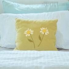 Daisy Flower Stem Reusable STENCIL -Stencilling walls & furniture, Fabric 10040
