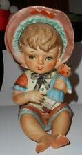 Vintage Set ARTMARK Boy and Girl Piano Babies Intaglio eyes. 7 1//2 inches tall
