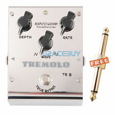 Biyang Tonefancier TR-8 Analog Tremolo Guitarra Pedal de Efectos & Connector New