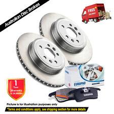MERCEDES CLK430 A208 C208 300mm 99-02 FRONT Disc Rotors & EuroPad DB1403