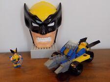 Mega Bloks 1907 Marvel WOLVERINE Figure - WOLVERINE CAR and Wolverine Figure HTF