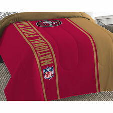 NFL SAN FRANCISCO 49ERS FULL SIZE COMFORTER - Football Helmet Silhouette Bedding
