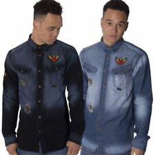 Camisas y polos de hombre azul talla XXL de poliéster