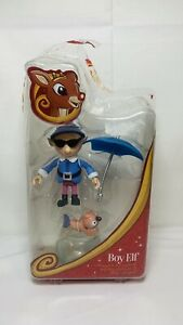RUDOLPH Island of Misfit Toys BOY ELF W/Birdfish, Umbrella, Fishbowl, Hat